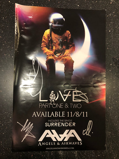 AUTOGRAPHED Angels & Airwaves Poster