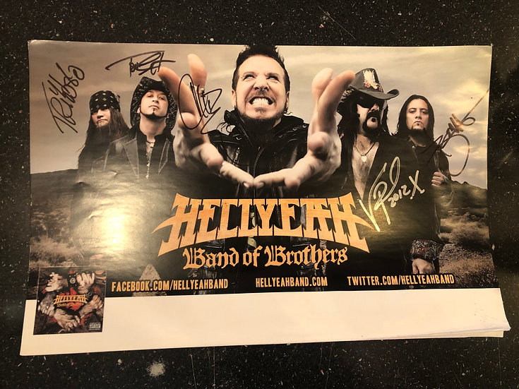 AUTOGRAPHED HellYeah Poster