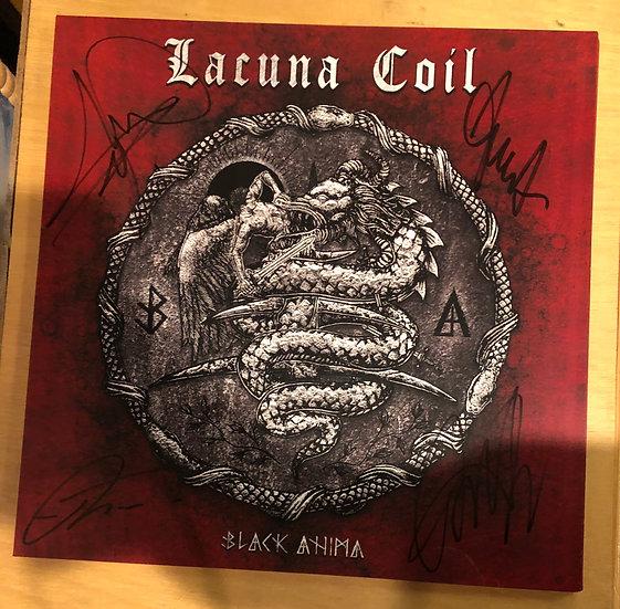 "AUTOGRAPHED: Lacuna Coil ""Black Anima"" Poster"