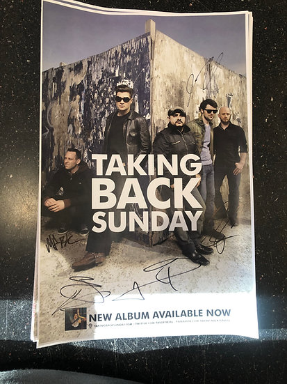 AUTOGRAPHED Taking Back Sunday Poster