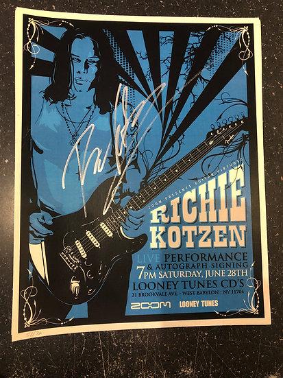 AUTOGRAPHED Ritchie Kotzen Poster