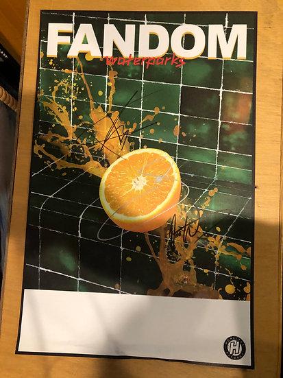 "AUTOGRAPHED: Waterparks ""Fandom"" Poster"