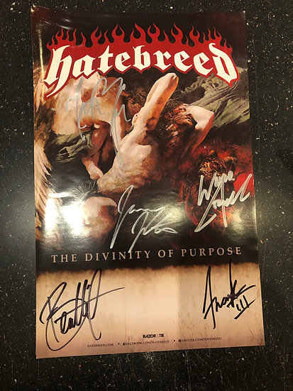 AUTOGRAPHED Hatebreed Poster