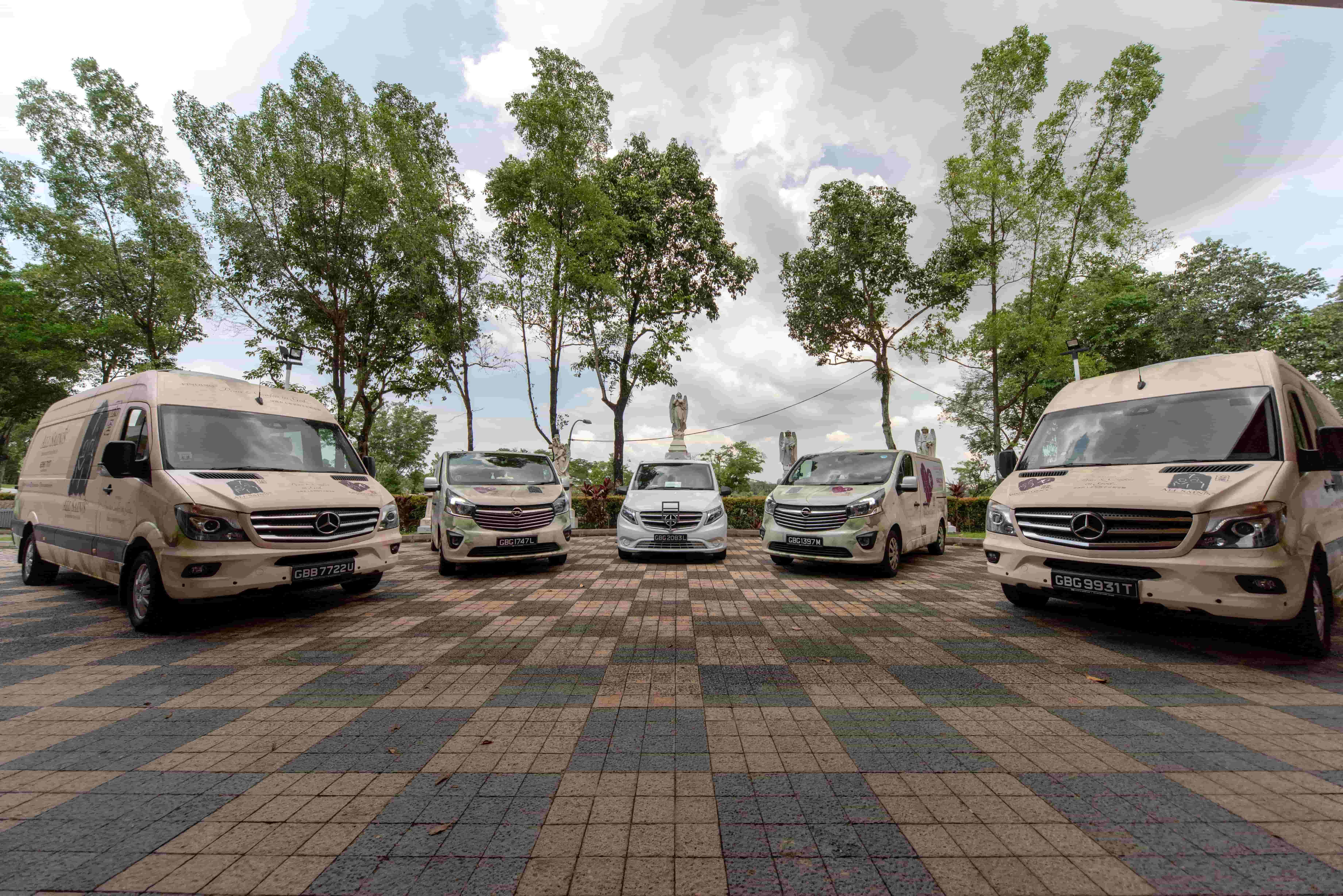 Fleet Of Selected Operational Vans