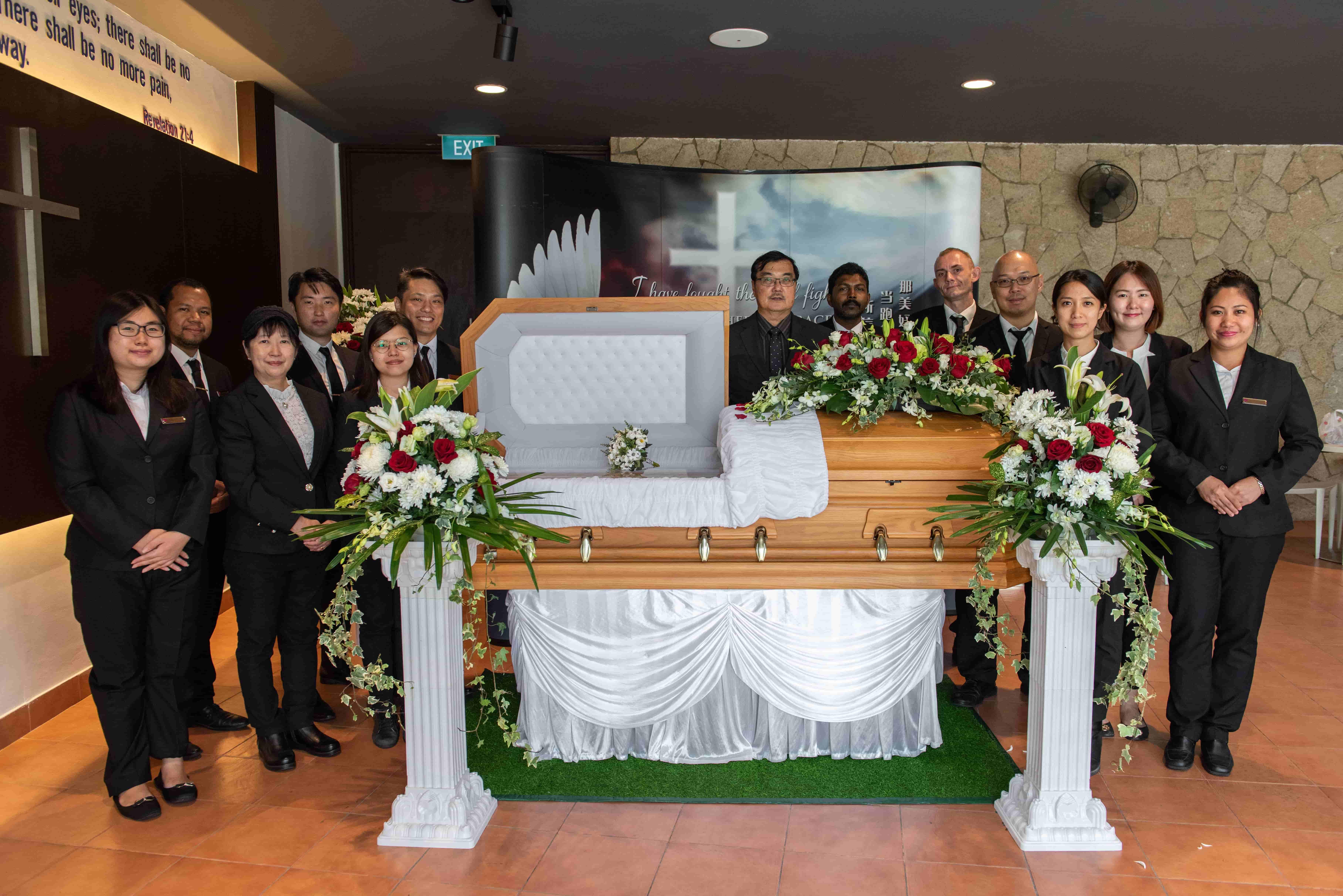 Funeral Setup At Parlour