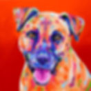 Dog, Tan dog, Custom Pet Portraits, Dog art, Animal Portraits from phots, Evei Art, Eve Izzett