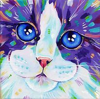 Ragdoll cat painting, Cat art, Custom pet portraits, Evei Art, Eve Izzett