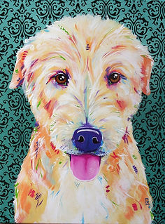 Dog painting, Australian artists, Animal painting, Eve Izzett, Evei Art