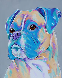 Boxer dog, Pastel dog art, Dog painting, Order pet portraits online, Evei Art, Eve Izzett