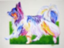 Papillon, Dog, Dog Art, Animal Artists, Pet portraits, Evei Art, Eve Izzett