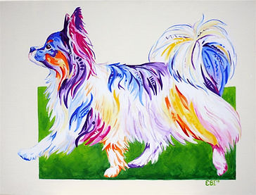 Papillon, Dog, Dog Art, Animal Artists, Pet portraits, Evei Art, Eve Izzett
