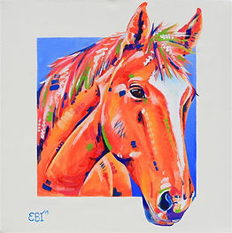 Chestnut horse art, Horse portrait commission, Pet portraits, Horse painting, Evei Art, Eve Izzett