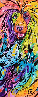 Afghan Hound, Dog art, Dog Portraits, Pet portraits Australia, Evei Art, Eve Izzett