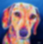 Sausage dog painting, Animal artists, Pet portraits, Evei Art, Eve Izzett