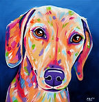 Sausage dog painting, Animal artists, Pet portraits, Evei Art, Eve Izzett