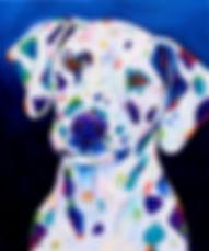 Dalmatian dog, Dog paintings, Pet paintings, Order pet portraits online, Evei Art, Eve Izzett