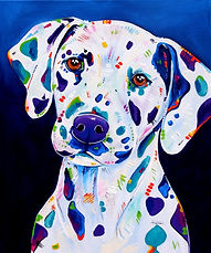 Dalmatian dog, Dog paintings, Pet paintings, Order pet portraits online, Evei Art, Eve Izzett