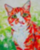 Cat, Ginger Cat, Cat painting, Pet portraits, Pet portraits from photos, Eve Izzett, Evei Art