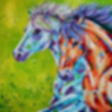 Horse art, horse painting, Colourful horse art, Evei Art, Eve Izzett