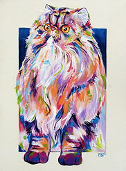 Himalayan Cat, Cat painting, Cat portrait, Pet Portraits, Evei Art, Eve Izzett