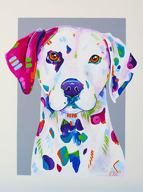 Dalmatian Dog, Spots, Animal artists, Dalmatian painting Evei Art, Eve Izzett