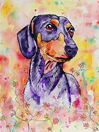 Pet Portrait Online Australia, Dog Painting, Custom Pet portrait, Pet portrait from photographs