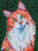 Ginger cat painting, Custom cat art, Pet portraits, Evei Art, Eve Izzett