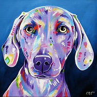 weimaraner painting, Dog portraits, Custom pet art, Evei Art, Eve Izzett