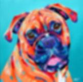 Boxer dog, Pet art, Pet portraits Australia, Pet portrait from photographs, Evei Art, Eve Izzett
