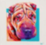 Shar pei, Dog painting, dog portrait, Paintigs of animals, Evei Art, Eve Izzett