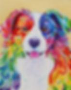 Border collie painting, Pet portraits in Australia, Order pet portraits online, Evei Art, Eve Izzett