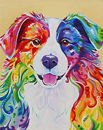Border collie painting, Pet portraits in Australia, Order pet portraits online, Evei Art, Eve Izzett