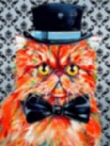 Persian cat painting, Cat dress ups, Ginger persian cat, Pet portraits, Evei Art, Eve Izzett