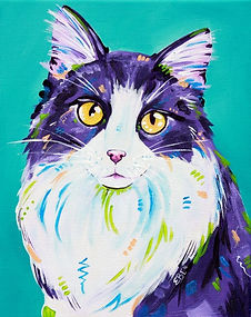 Cat art, Cat portrait, Pet portraits, Custom pet art, Evei Art, Eve Izzett