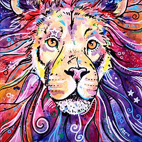 Lion painting, Lion art, Animal artists, Evei Art, Eve Izzett