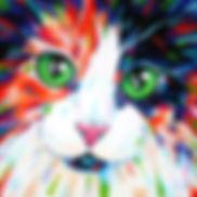 Cat artwork, Cat portraits, Animal paintings, Evei Art, Eve Izzett