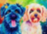 Dog art, Colorful pet portraits, Pet portraits Australia, Evei Art, Eve Izzett
