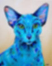 Oriental Cat, Cat painting, Pet Portraits, Custom Pet Portraits, Evei Art, Eve Izzett