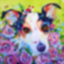 Jack Russell, Puppy, Roses, Animal Artists, Dog Painting, Evei Art, Eve Izzett