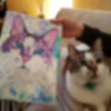 Custom cat portrait australia and international from photos.