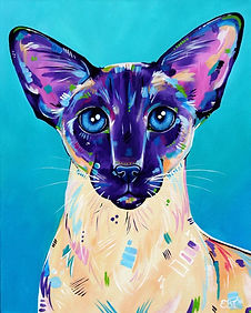 Siamese cat painting, Cat art, Pet portraits, Order pet portraits online, Evei Art, Eve Izzett