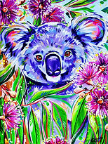 Koala painting, Australian Artists, Paintings of Animals, Evei Izzett, Evei Art