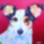 Fox terrier, Jack Russell, Pet paintings, Dog Art, Evei Art, Eve Izzett