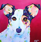 Fox terrier, Jack Russell, Pet paintings, Dog Art, Evei Art, Eve Izzett