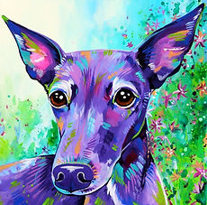 Greyhound, Dog, Dog Portraits, Animal paintings, Custom pet portraits, Evei Art, Eve Izzett