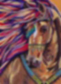Arabian Horse Painting, Horse portraits online, Custom horse art, Animal portraits, Evei Art, Eve Izzett