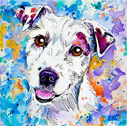 Jack Russell, Puppy, Dog, Pet portraits, Australia, Evei Art, Eve Izzett