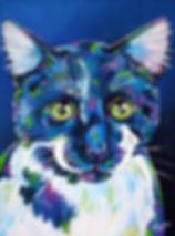 Custom pet potraits, Pet portraits from photos, Black cat paintings, Animal artists, Evei Art, Eve Izzett