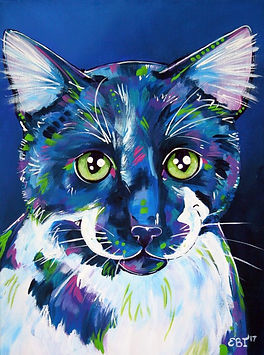 Custom pet potraits, Pet portraits from photos, Black cat paintings, Animal artists, Evei Art, Eve Izzett