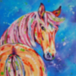 Palamino horse painting, Custom horse portraits from photographs, Order pet portrait online, Eve Izzett, Evei Art